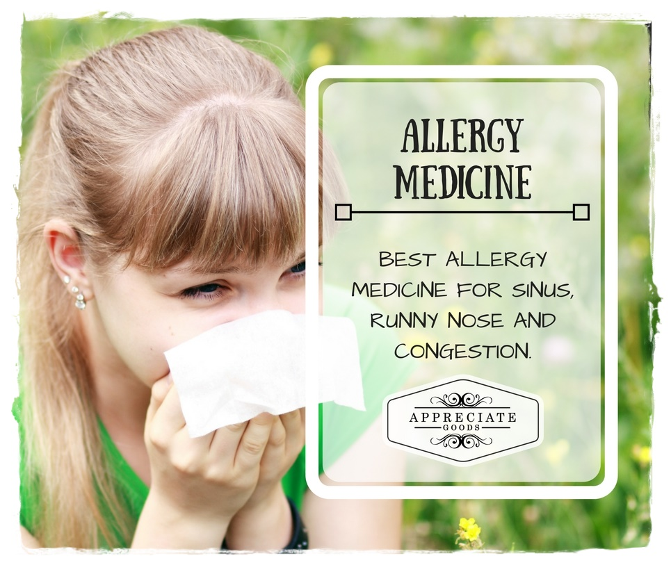 5 Allergy Medicine For Sinus Runny Nose And Congestion