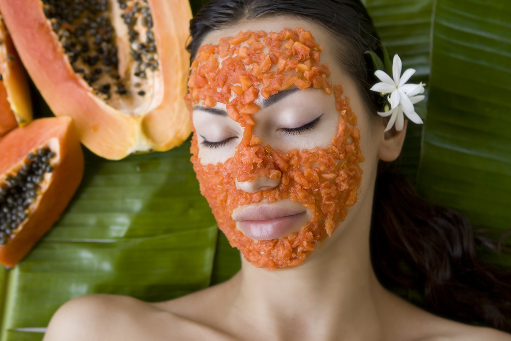 papaya-on-girls-face