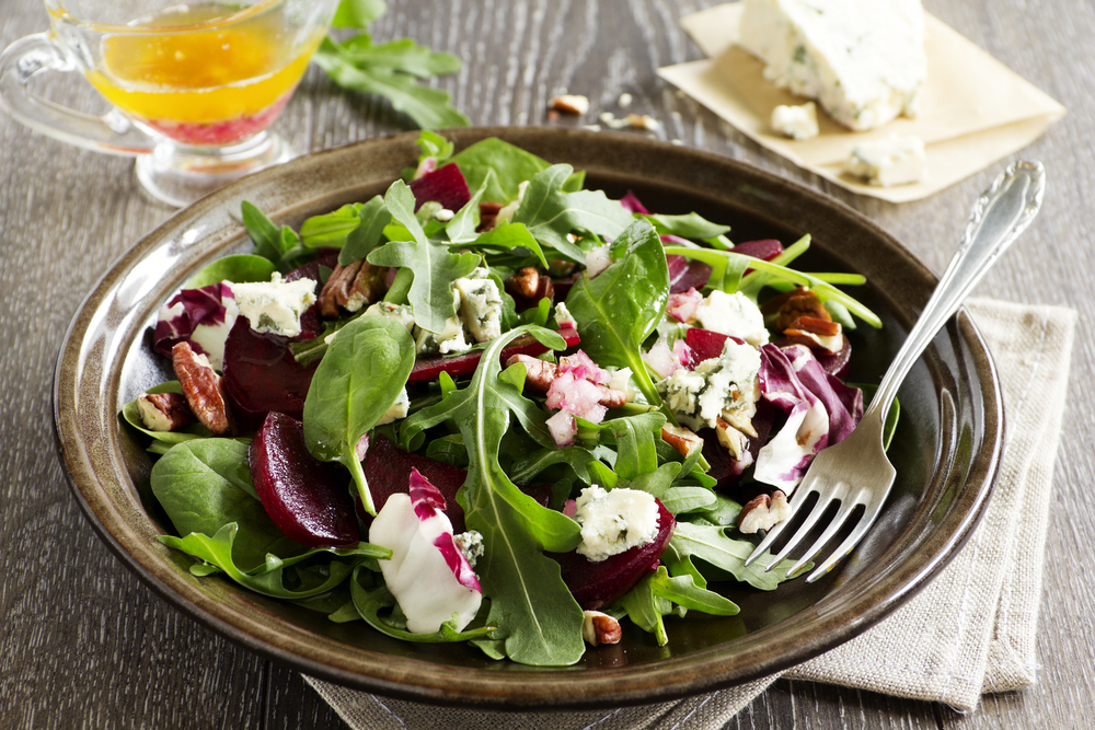 salad-with-beet-topping