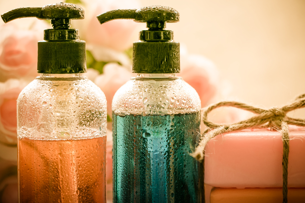 liquid shampoo-in-bottles