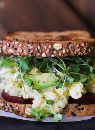 Beets & Greens Egg Salad Sammie