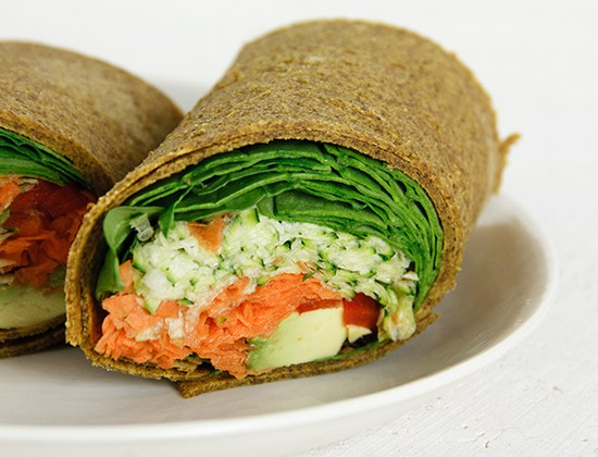 Easy Raw Pumpkin and Onion Wraps