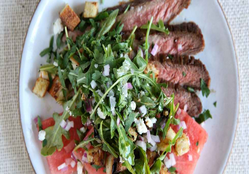 Flank Steak with Watermelon Salad