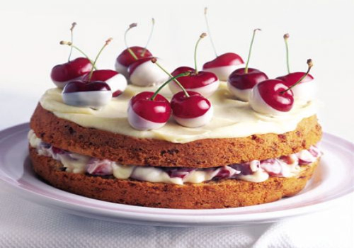 Chocolate dipped Cherry Cake
