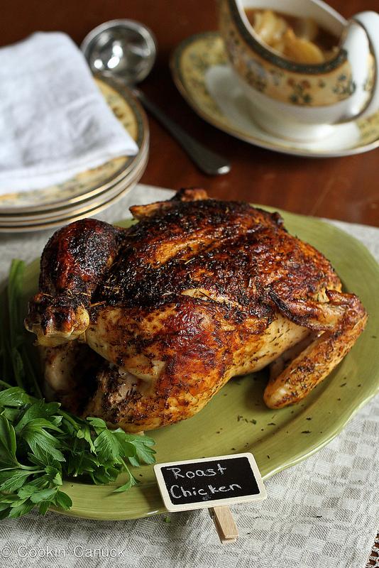 Roasted Chicken with Deep Onion-Garlic Gravy