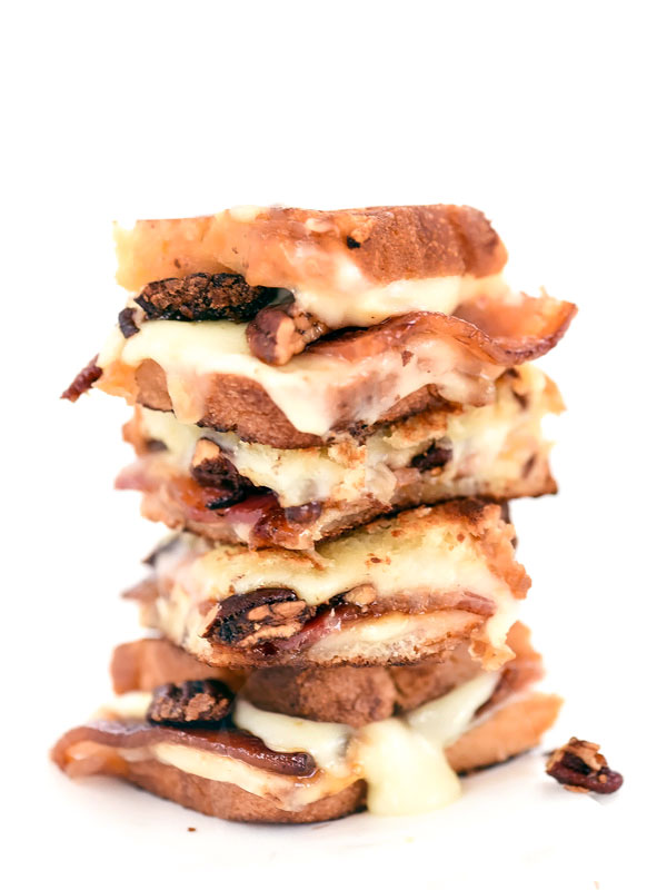 Brown Sugar Pecans and Sweet Bacon with Havarti Grilled Cheese
