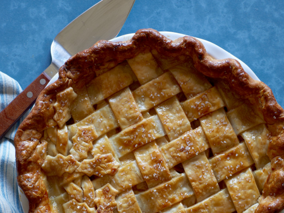Maple Pear and Ginger Pie