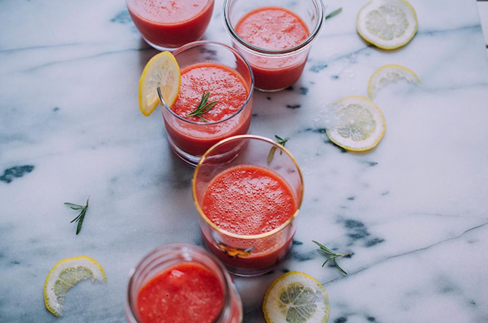 Tess' Frozen Rosemary Watermelon-ade