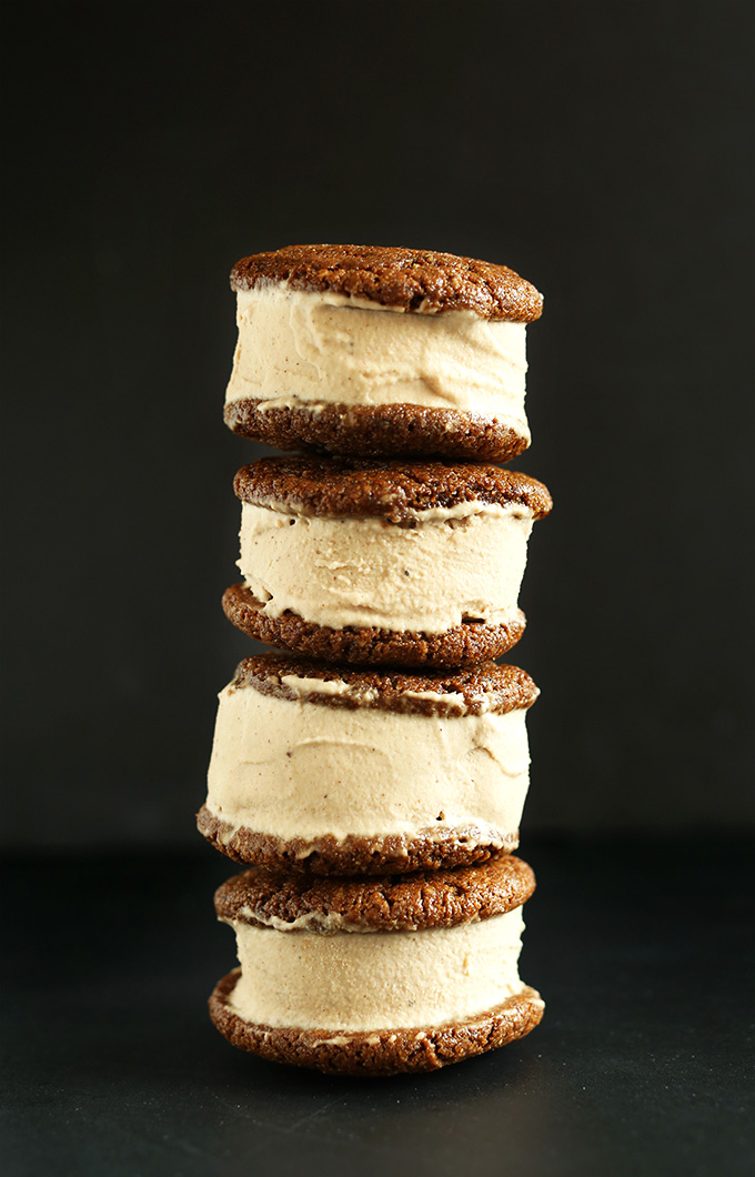 Chai Ginger Ice Cream Sandwiches