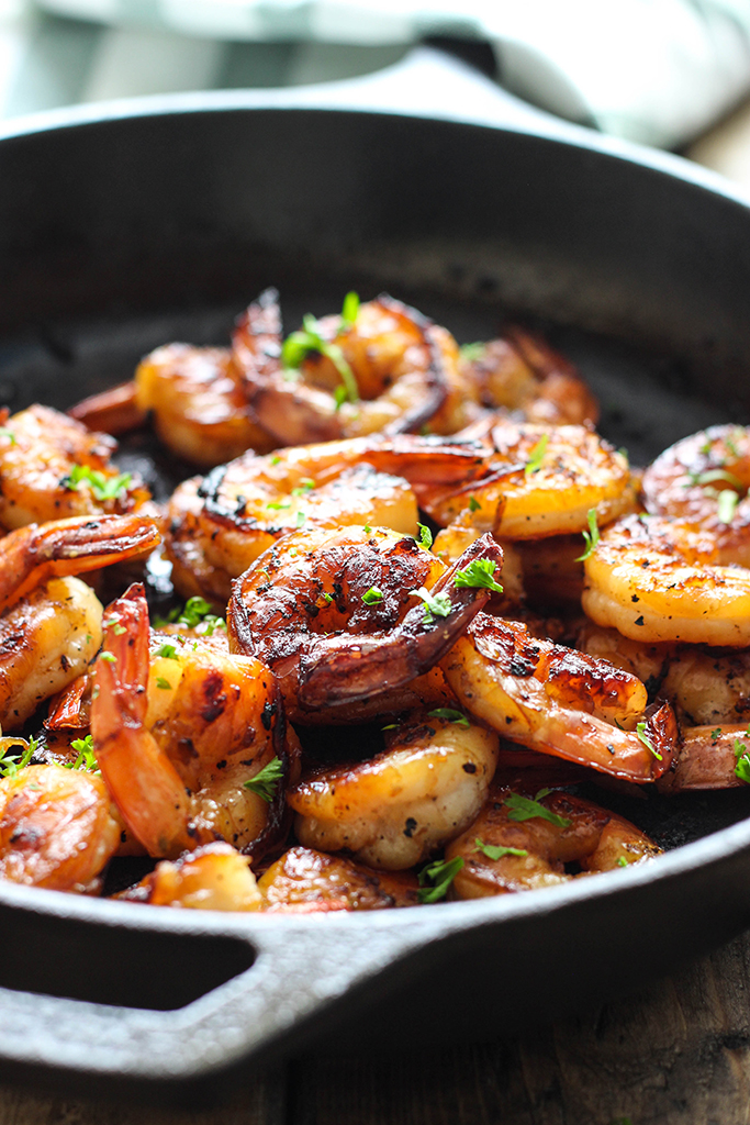 honey-garlic-shrimp-skillet