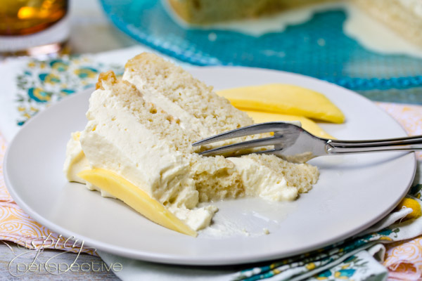 Tres Leches Cake with Mango Cream