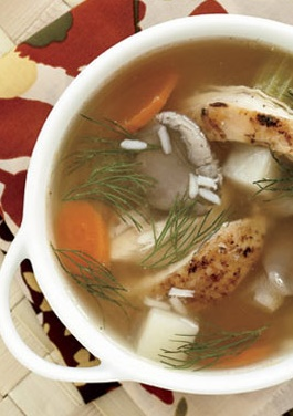 lemon-chicken-soup-with-oyster-mushrooms-and-dill