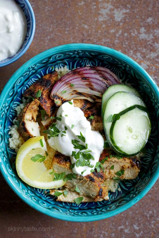 Shawarma-Spiced Grilled Chicken with Garlic Yogurt