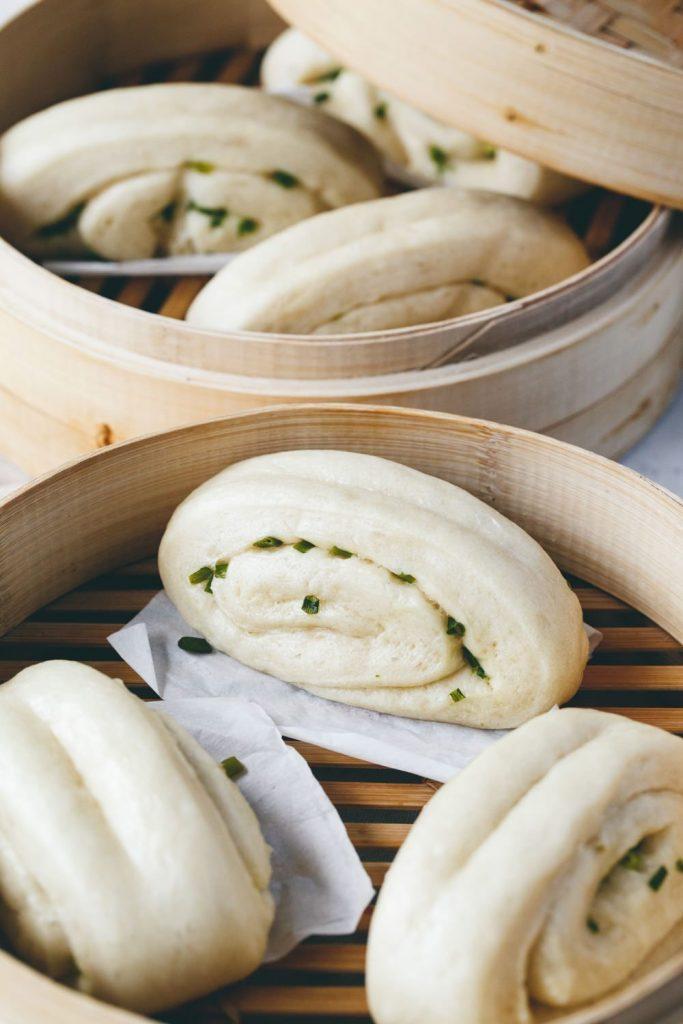 Taiwanese Steamed Scallion Buns