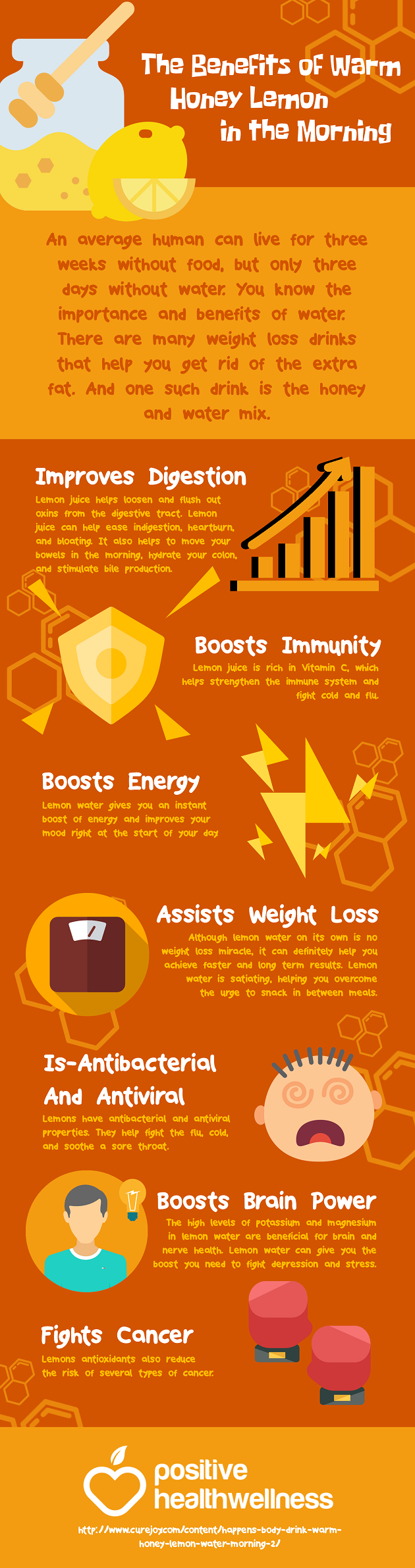 The-Benefits-of-Warm-Honey-Lemon-in-the-Morning Infographic