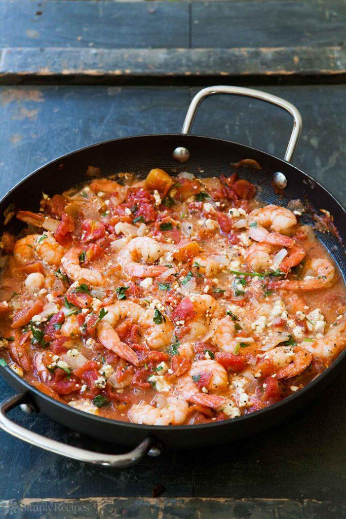 Baked Shrimp in Tomato Feta Sauce