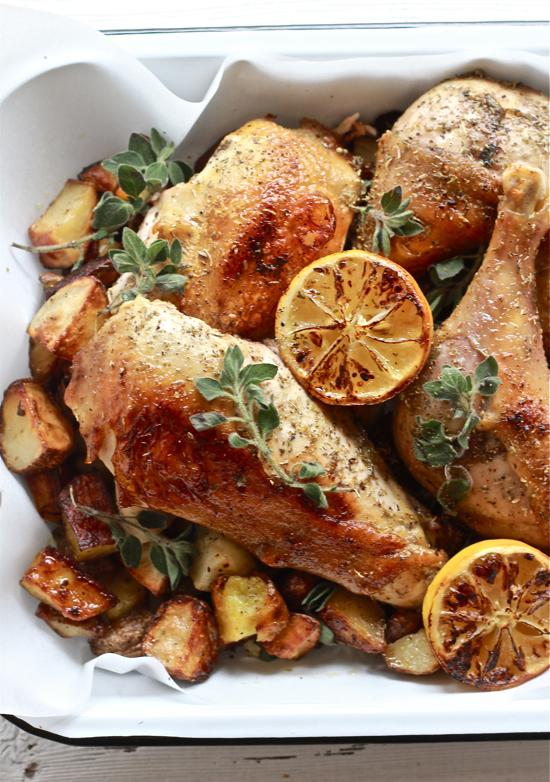 Greek Chicken with Lemon and Oregano