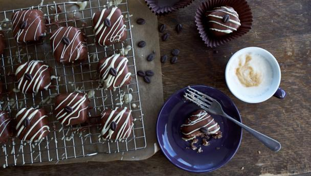 Chocolate and Coffee Fondant Fancies