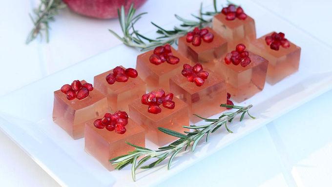 Rosemary & Pomegranate Holiday Jello Shot