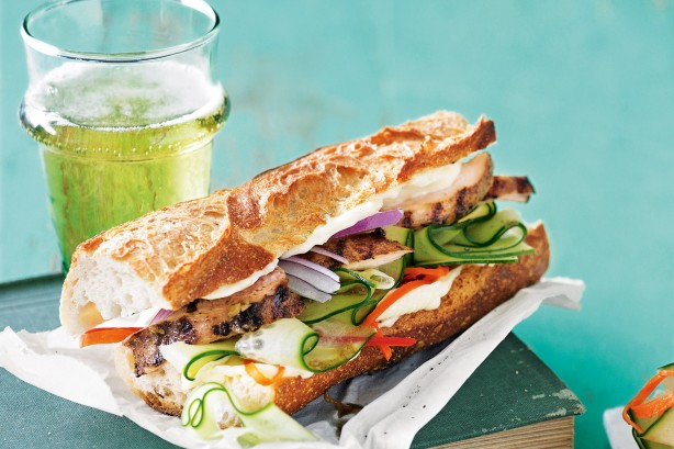 Five-spice Chicken and Cucumber Banh Mi