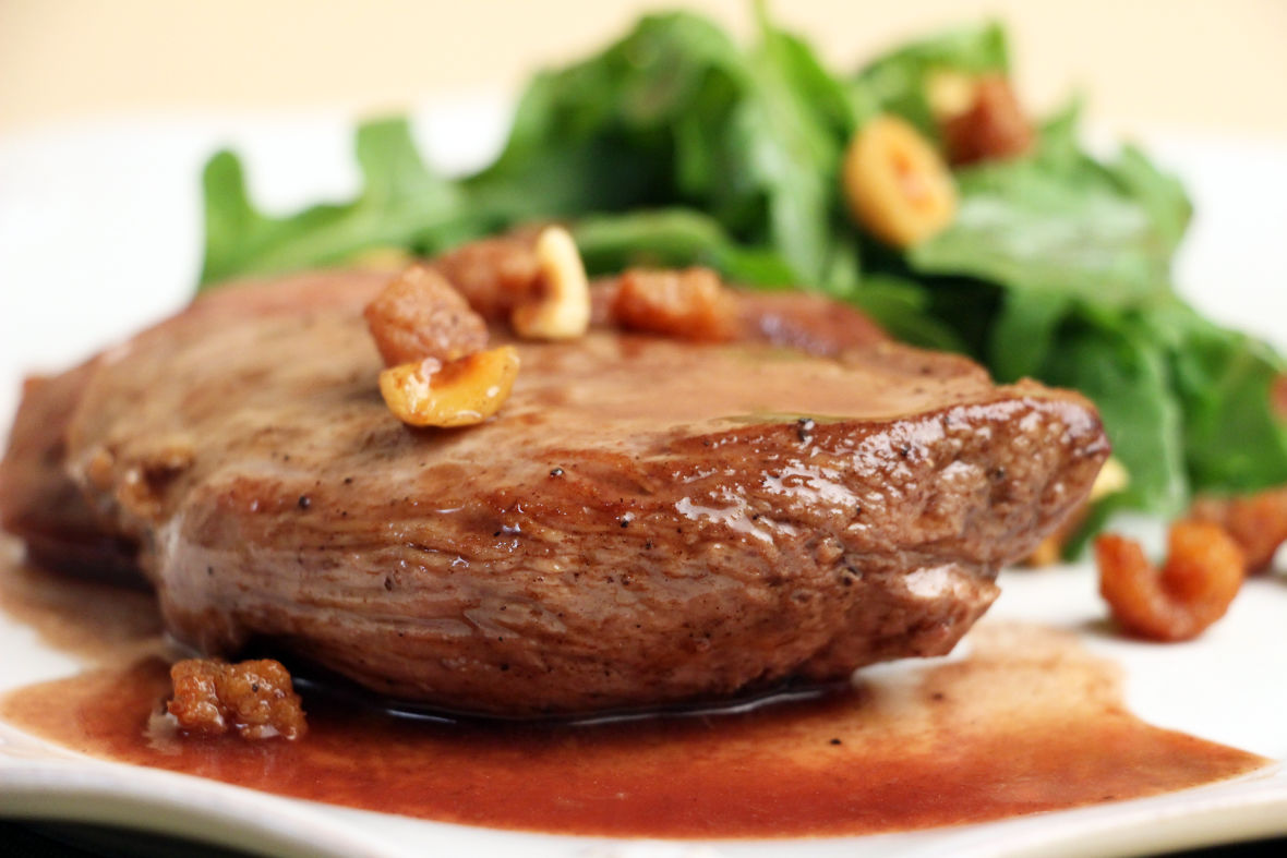Sautéed Duck Breast with Arugula Salad and Cracklings