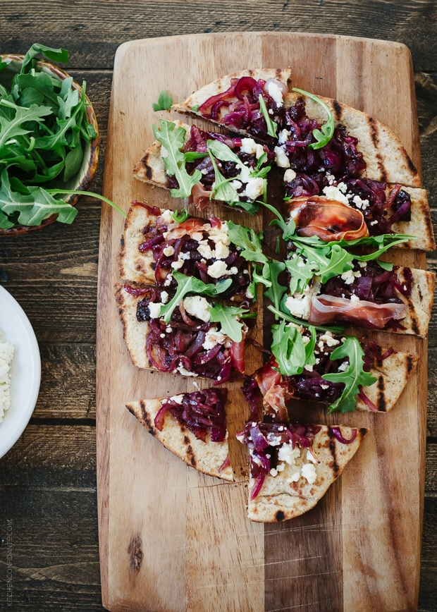 Caramelized Onion, Feta & Serrano Ham Flatbread