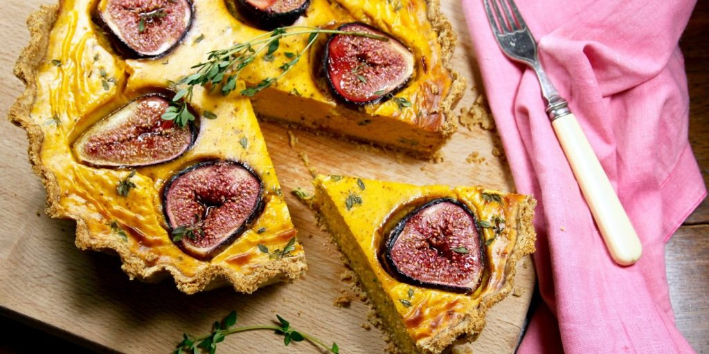 Pumpkin, Goat's cheese and Fig Tart with Lemon Thyme