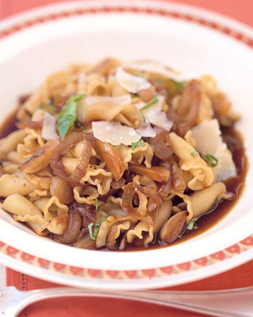 Caramelized Garlic and Shallot Pasta