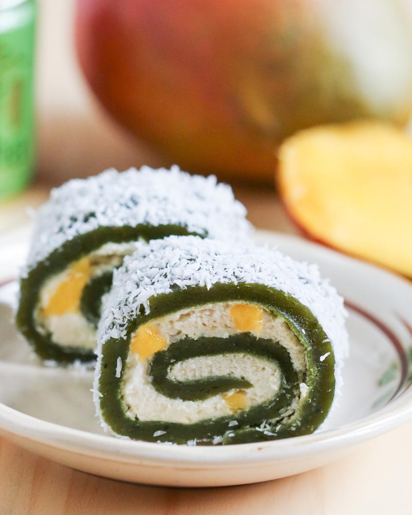 Matcha Mango Mochi Rolls