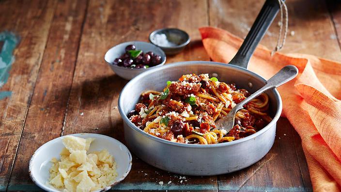 Italian Pork Sausage Spaghetti