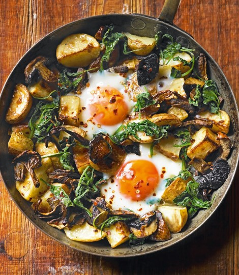 baked-eggs-with-mushrooms-potatoes-spinach-and-gruyere
