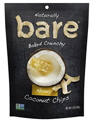 Bare Natural Coconut Chips, Honey, Gluten Free + Baked
