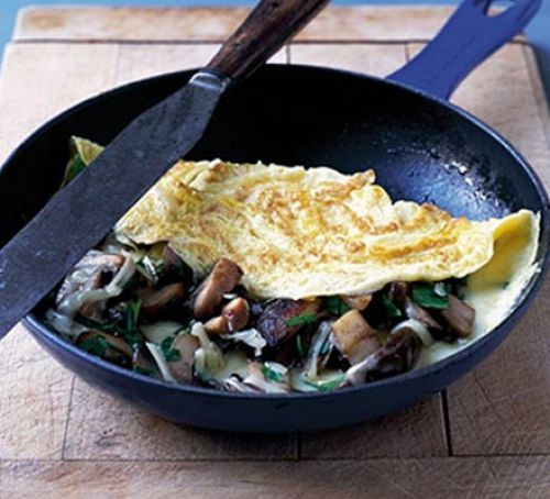 cheesy-mushroom-omelette