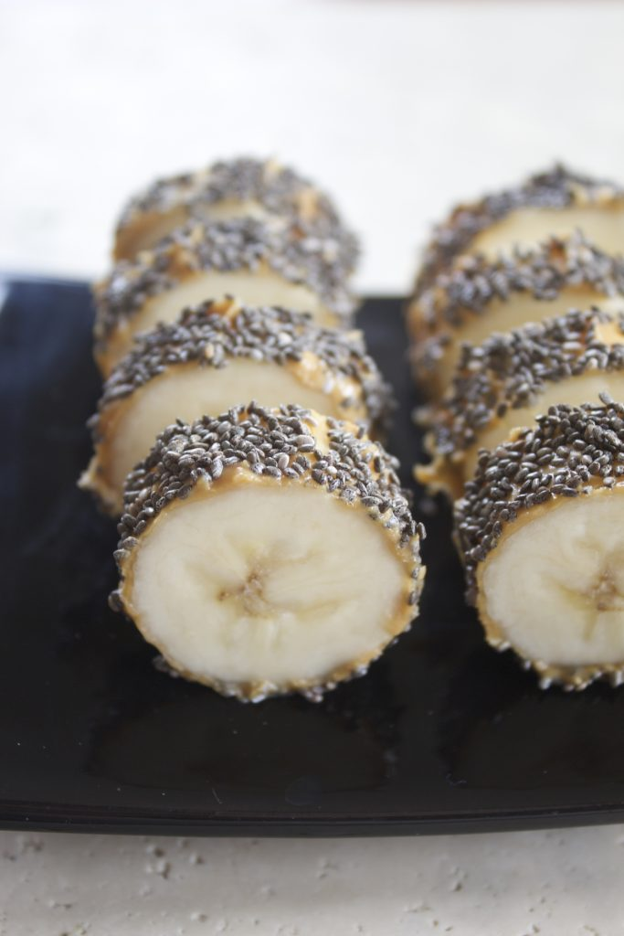 Chia-Almond Butter Banana Sushi