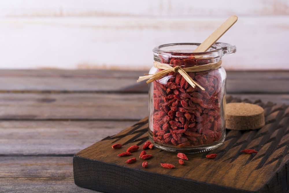 Goji Berries in Jar