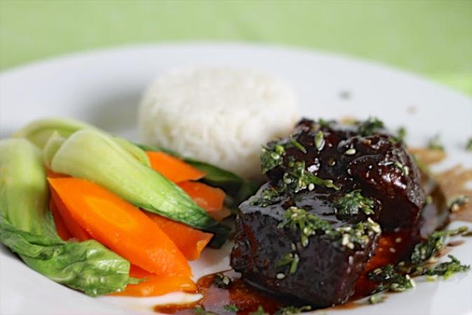 Korean Beef Short Ribs with Perfect Jasmine