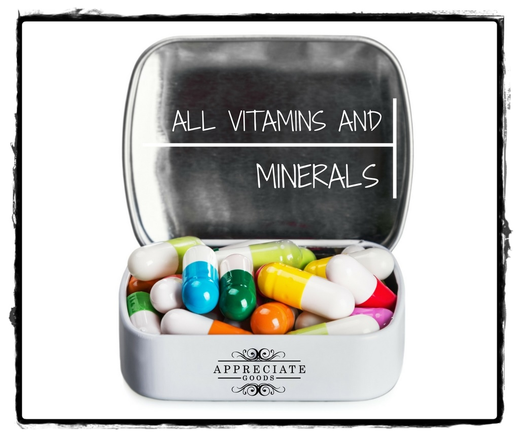 ALL VITAMINS AND MINERALS
