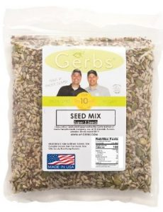 Pumpkin, Sunflower, Chia, Flax, Hemp Seed Raw Mix by Gerbs - NON GMO