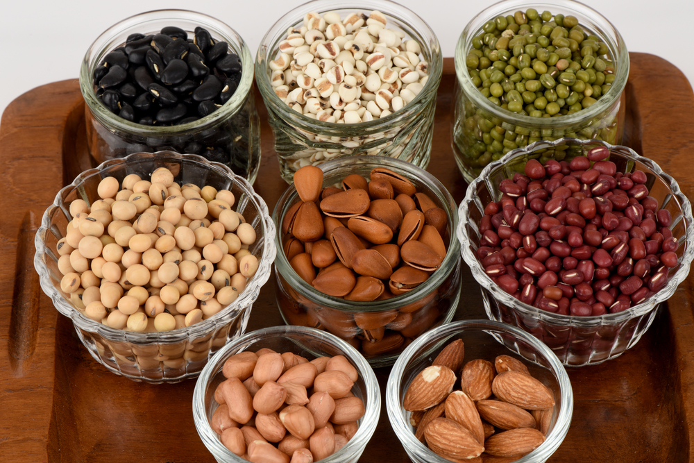Soaked nuts and legumes