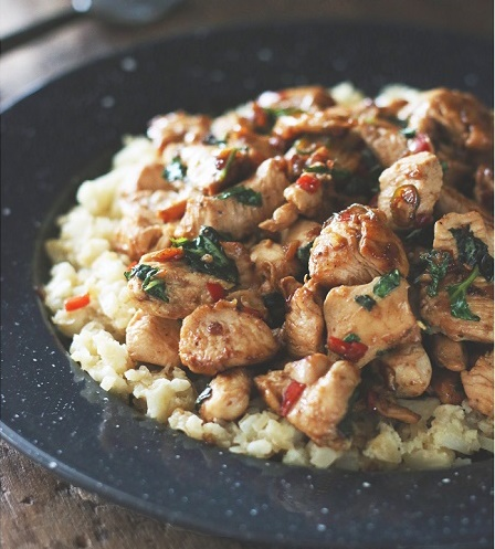Thai Chicken With Basil & Cauliflower Fried Rice