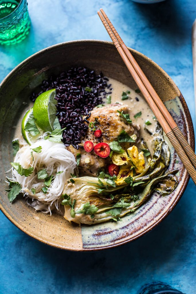 Thai Lemongrass Chicken Braised in Coconut Milk