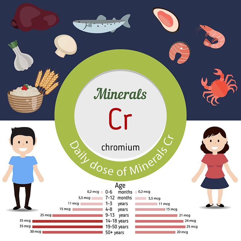 chromium Daily Intakes