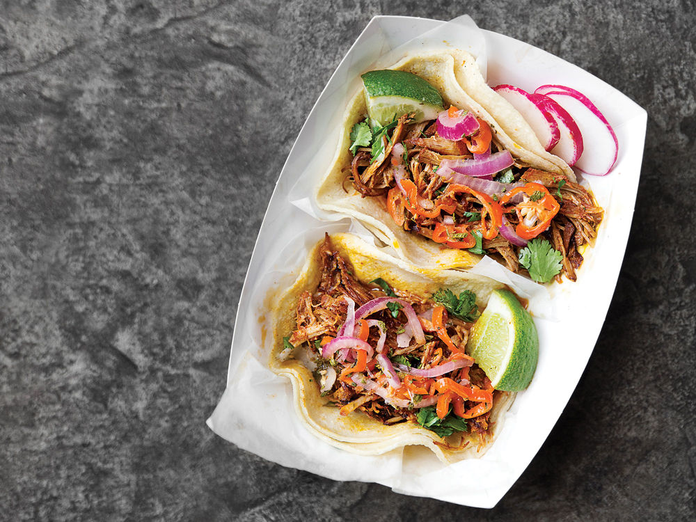 Yucatan-style Shredded Pork Tacos with Achiote