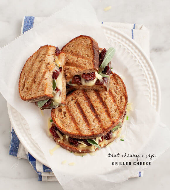 Tart Cherry Grilled Cheese with Sage