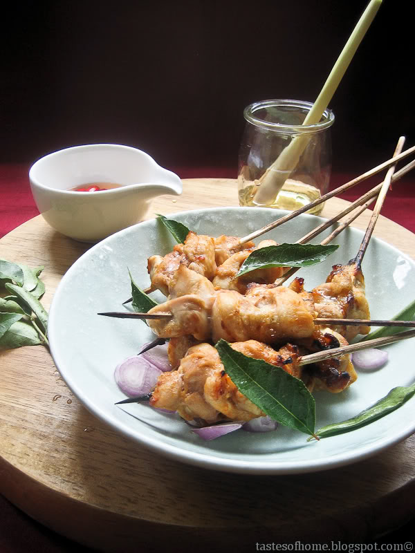 Thai Style Roasted Chicken Satay Skewers