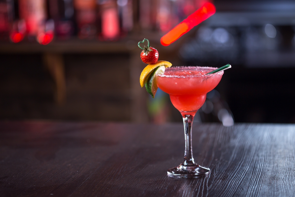 A Strawberry Star Flower Cocktail