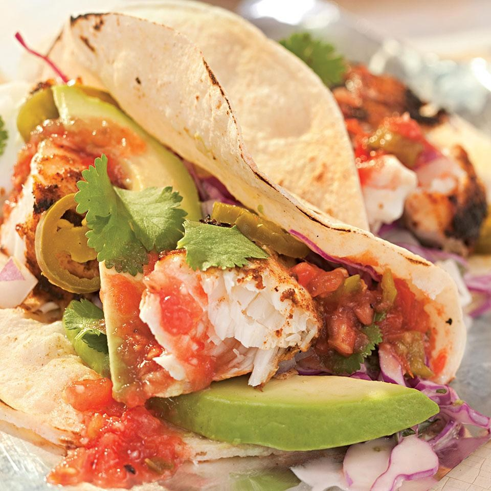 Anise Covered Tilapia in Tacos