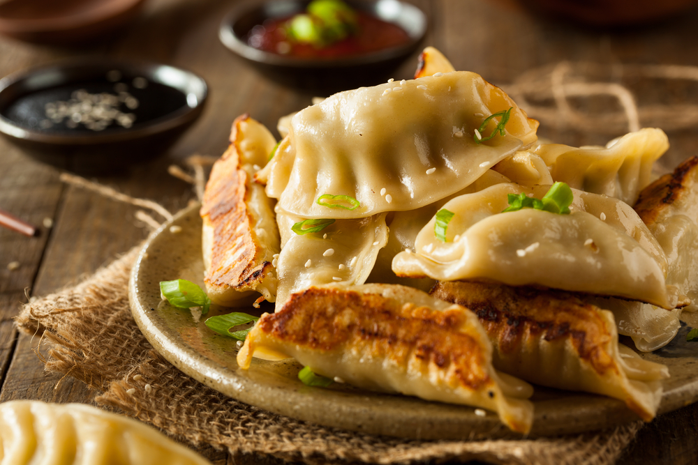 Bamboo shoot Potstickers