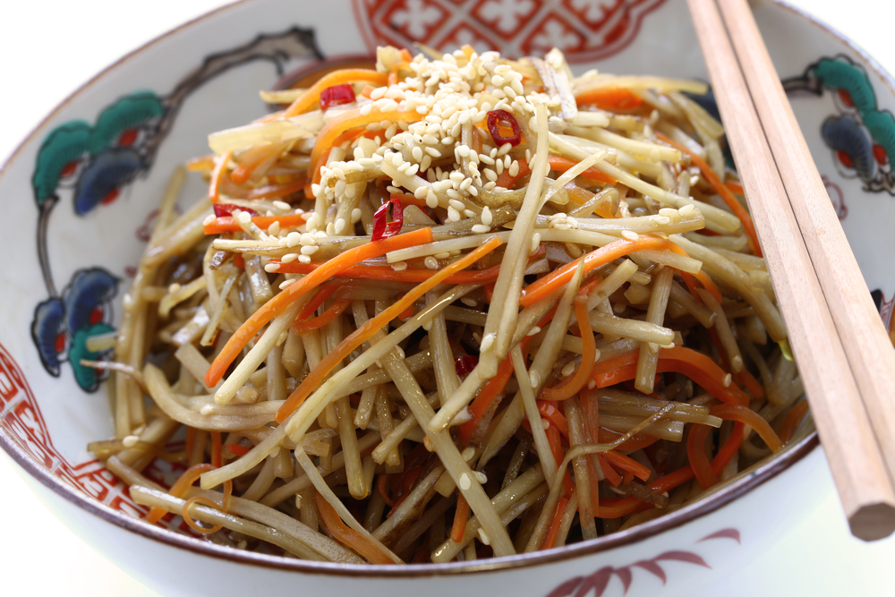 Kinpira Gobo Spicy Burdock Root and Carrot Stir-fry