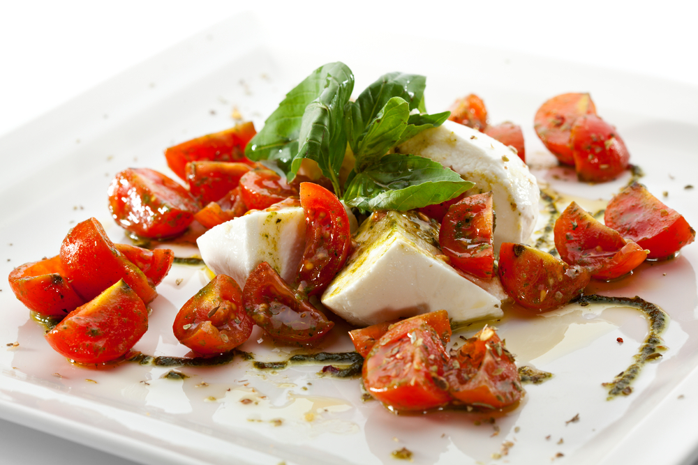 Tomato, Basil, and Fresh Mozzarella Salad